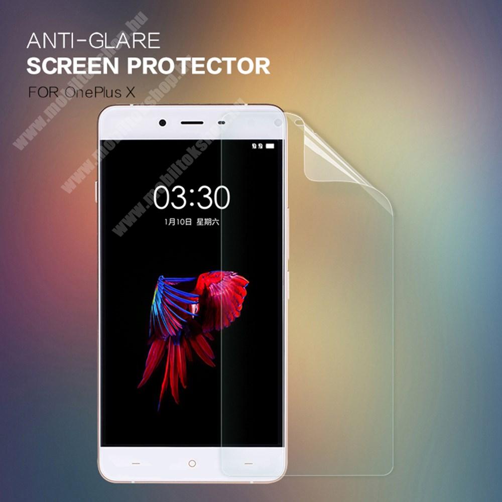NILLKIN képernyővédő fólia - Anti Glare - 1db, törlőkendővel - OnePlus X - GYÁRI