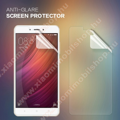 Xiaomi Redmi Note 4NILLKIN képernyővédő fólia - Anti Glare - 1db, törlőkendővel - Xiaomi Redmi Note 4 - GYÁRI
