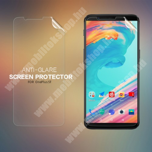 NILLKIN képernyővédő fólia - Anti-Glare - MATT! - 1db, törlőkendővel - OnePlus 5T - GYÁRI