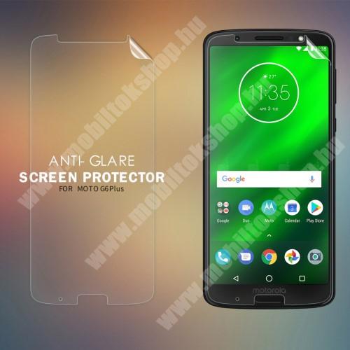 NILLKIN képernyővédő fólia - Anti-glare - MATT! - 1db, törlőkendővel - MOTOROLA Moto G6 Plus (2018) - GYÁRI