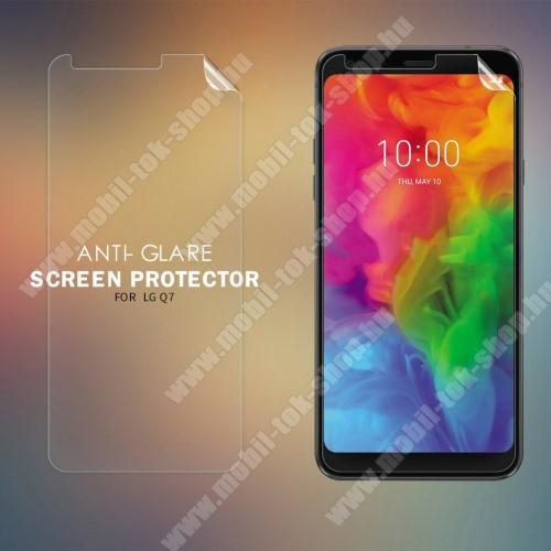 NILLKIN képernyővédő fólia - Anti-glare - MATT! - 1db, törlőkendővel - LG Q7 - GYÁRI