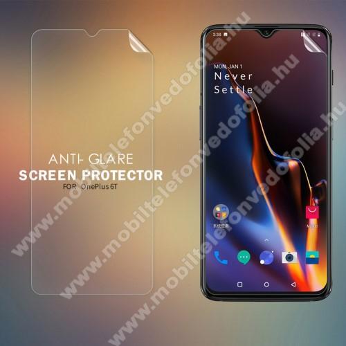 NILLKIN képernyővédő fólia - Anti-Glare - MATT! - 1db, törlőkendővel - OnePlus 6T - GYÁRI