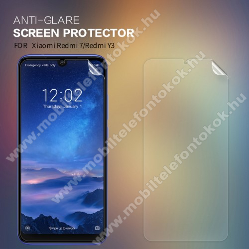 NILLKIN képernyővédő fólia - Anti-Glare - MATT! - 1db, törlőkendővel - Xiaomi Redmi 7 / Xiaomi Redmi Y3 - GYÁRI