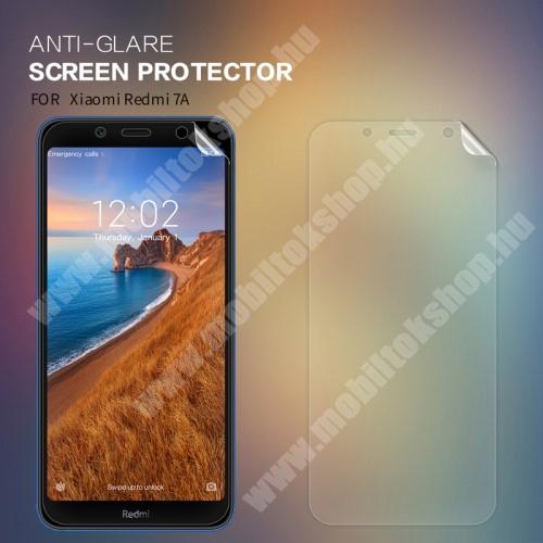 Xiaomi Redmi 7a NILLKIN képernyővédő fólia - Anti-Glare - MATT! - 1db, törlőkendővel - Xiaomi Redmi 7A - GYÁRI