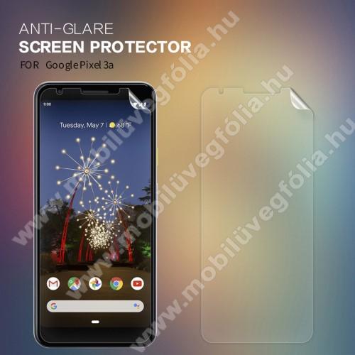 NILLKIN képernyővédő fólia - Anti-Glare - MATT! - 1db, törlőkendővel - Google Pixel 3a - GYÁRI