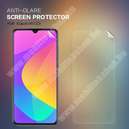 NILLKIN képernyővédő fólia - Anti-glare - MATT! - 1db, törlőkendővel - Xiaomi Mi 9 Lite / Xiaomi Mi CC9 - GYÁRI