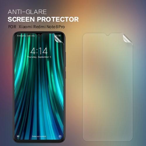 NILLKIN képernyővédő fólia - Anti-Glare - MATT! - 1db, törlőkendővel - Xiaomi Redmi Note 8 Pro - GYÁRI