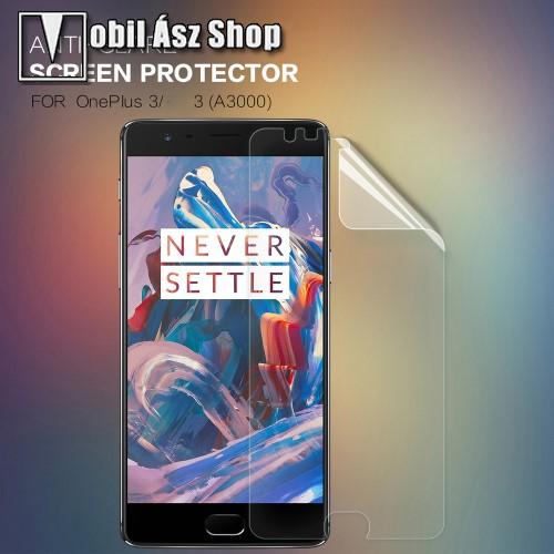 NILLKIN k�perny�v�d� f�lia - Anti-Glare - MATT! - 1db, t�rl�kend�vel - OnePlus 3 - GY�RI