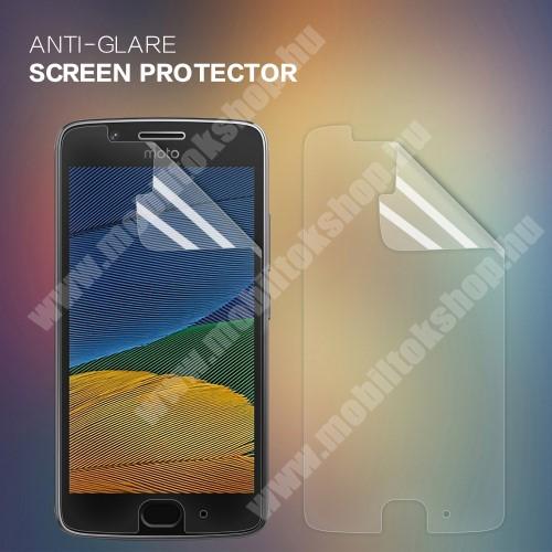 NILLKIN képernyővédő fólia - Anti-glare - MATT! - 1db, törlőkendővel - Motorola Moto G5 - GYÁRI