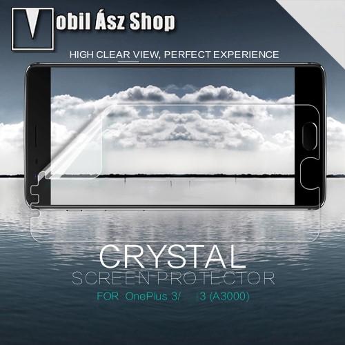 NILLKIN k�perny�v�d� f�lia - Clear - 1db, t�rl�kend�vel - OnePlus 3 - GY�RI