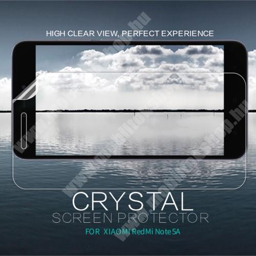 NILLKIN képernyővédő fólia - Crystal Clear - 1db, törlőkendővel - Xiaomi Redmi Note 5A / Xiaomi Redmi Y1 Lite - GYÁRI