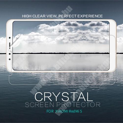 Xiaomi Redmi 5 NILLKIN képernyővédő fólia - Crystal Clear - 1db, törlőkendővel - XIAOMI Redmi 5 - GYÁRI