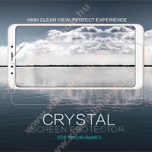 Xiaomi Redmi 5NILLKIN képernyővédő fólia - Crystal Clear - 1db, törlőkendővel - XIAOMI Redmi 5 - GYÁRI