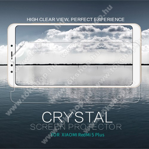 NILLKIN képernyővédő fólia - Crystal Clear - 1db, törlőkendővel - XIAOMI Redmi Note 5 / XIAOMI Redmi 5 Plus - GYÁRI
