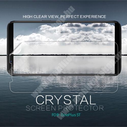 OnePlus 5T NILLKIN képernyővédő fólia - Crystal Clear - 1db, törlőkendővel - OnePlus 5T - GYÁRI