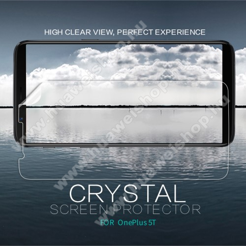 NILLKIN képernyővédő fólia - Crystal Clear - 1db, törlőkendővel - OnePlus 5T - GYÁRI