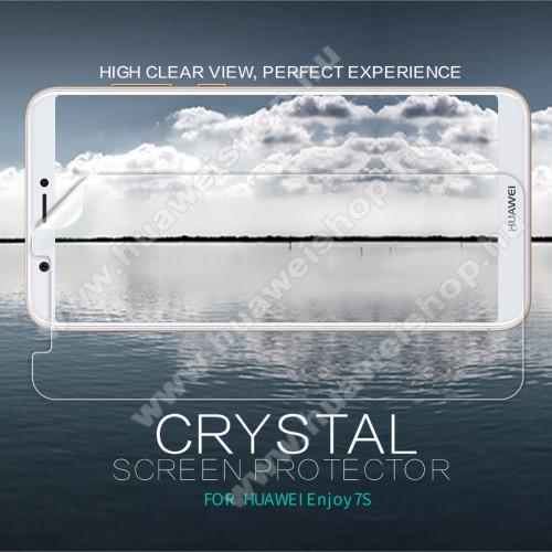 HUAWEI Enjoy 7SNILLKIN képernyővédő fólia - Crystal Clear - 1db, törlőkendővel - HUAWEI P Smart / HUAWEI Enjoy 7S - GYÁRI