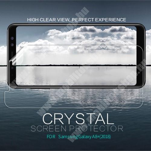 NILLKIN képernyővédő fólia - Crystal Clear - 1db, törlőkendővel - SAMSUNG Galaxy A8 Plus (2018) - GYÁRI