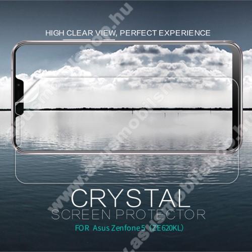 NILLKIN képernyővédő fólia - Crystal Clear - 1db, törlőkendővel - ASUS Zenfone 5 (ZE620KL) (2018) - GYÁRI