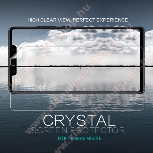 Xiaomi Mi 8 SENILLKIN képernyővédő fólia - Crystal Clear - 1db, törlőkendővel - Xiaomi Mi 8 SE - GYÁRI