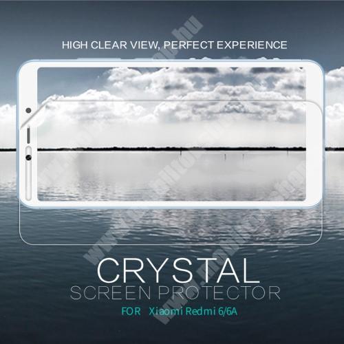 NILLKIN képernyővédő fólia - Crystal Clear - 1db, törlőkendővel - Xiaomi Redmi 6 / Xiaomi Redmi 6A - GYÁRI