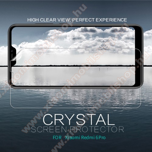 Xiaomi Redmi 6 ProNILLKIN képernyővédő fólia - Crystal Clear - 1db, törlőkendővel - Xiaomi Redmi 6 Pro / Xiaomi Mi A2 Lite - GYÁRI
