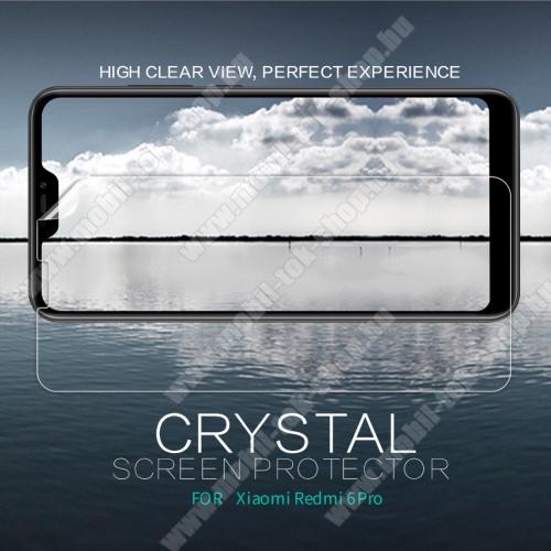 NILLKIN képernyővédő fólia - Crystal Clear - 1db, törlőkendővel - Xiaomi Redmi 6 Pro / Xiaomi Mi A2 Lite - GYÁRI