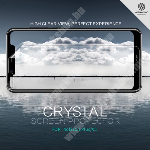NOKIA 5.1 Plus (2018) NILLKIN képernyővédő fólia - Crystal Clear - 1db, törlőkendővel - NOKIA 5.1 Plus - GYÁRI