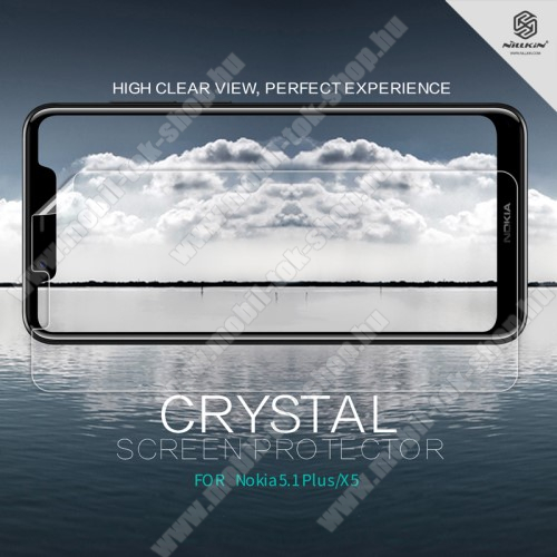 NILLKIN képernyővédő fólia - Crystal Clear - 1db, törlőkendővel - NOKIA 5.1 Plus - GYÁRI