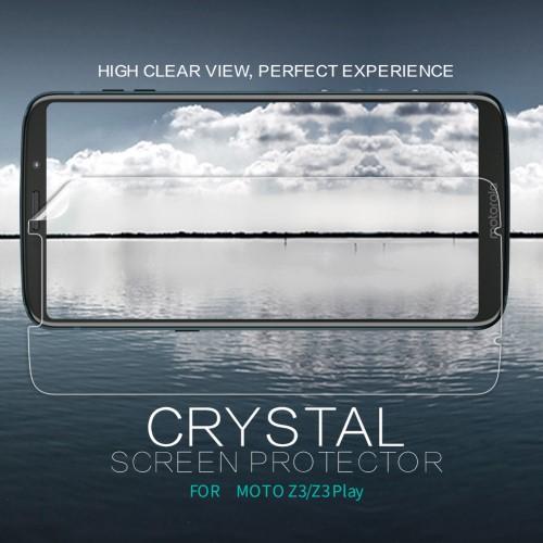 NILLKIN képernyővédő fólia - Crystal Clear - 1db, törlőkendővel - MOTOROLA Moto Z3 Play / MOTOROLA Moto Z3 - GYÁRI
