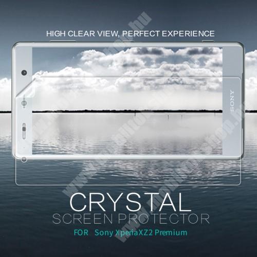 SONY Xperia XZ2 Premium (2018) NILLKIN képernyővédő fólia - Crystal Clear - 1db, törlőkendővel - SONY Xperia XZ2 Premium (2018) - GYÁRI