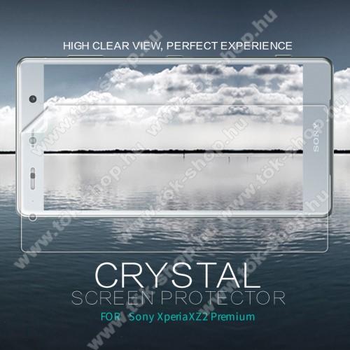 NILLKIN képernyővédő fólia - Crystal Clear - 1db, törlőkendővel - SONY Xperia XZ2 Premium (2018) - GYÁRI