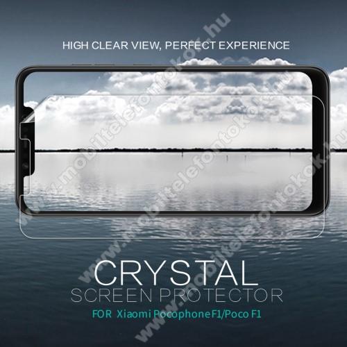 Xiaomi Pocophone F1NILLKIN képernyővédő fólia - Crystal Clear - 1db, törlőkendővel - Xiaomi Pocophone F1 - GYÁRI