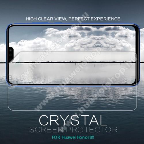 NILLKIN képernyővédő fólia - Crystal Clear - 1db, törlőkendővel - HUAWEI Honor 8X / HUAWEI Honor View 10 Lite - GYÁRI