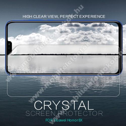 HUAWEI Honor 8XNILLKIN képernyővédő fólia - Crystal Clear - 1db, törlőkendővel - HUAWEI Honor 8X - GYÁRI