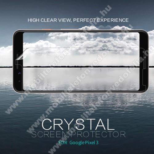 NILLKIN képernyővédő fólia - Crystal Clear - 1db, törlőkendővel - Google Pixel 3 - GYÁRI