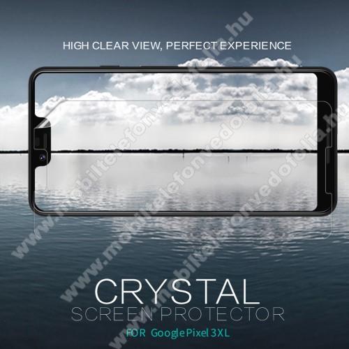 NILLKIN képernyővédő fólia - Crystal Clear - 1db, törlőkendővel - Google Pixel 3 XL - GYÁRI