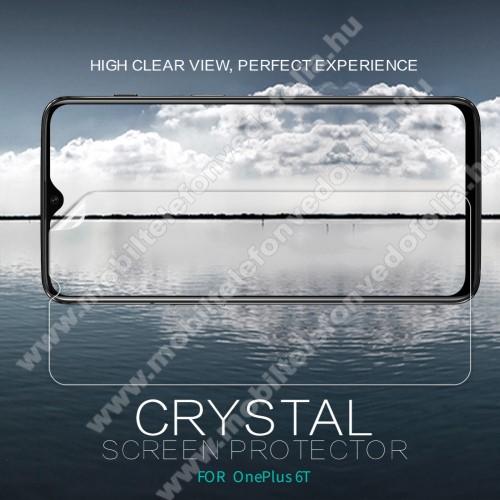 NILLKIN képernyővédő fólia - Crystal Clear - 1db, törlőkendővel - OnePlus 6T - GYÁRI