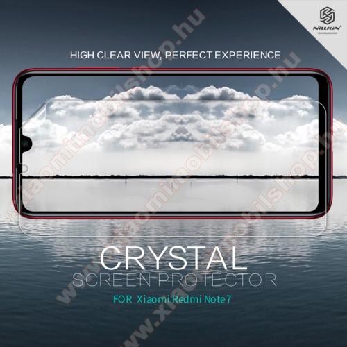 Xiaomi Redmi Note 7NILLKIN képernyővédő fólia - Crystal Clear - 1db, törlőkendővel - Xiaomi Redmi Note 7 / Xiaomi Redmi Note 7 Pro / Xiaomi Redmi Note 7S - GYÁRI