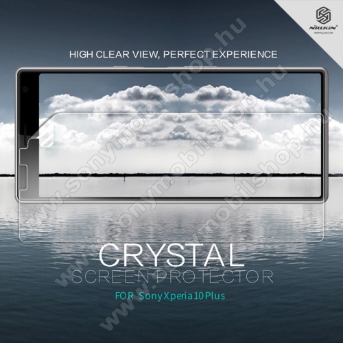 SONY Xperia 10 Plus (2019)NILLKIN képernyővédő fólia - Crystal Clear - 1db, törlőkendővel - SONY Xperia 10 Plus - GYÁRI