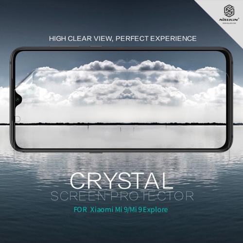 NILLKIN képernyővédő fólia - Crystal Clear - 1db, törlőkendővel - Xiaomi Mi 9 / Xiaomi Mi 9 Explorer - GYÁRI