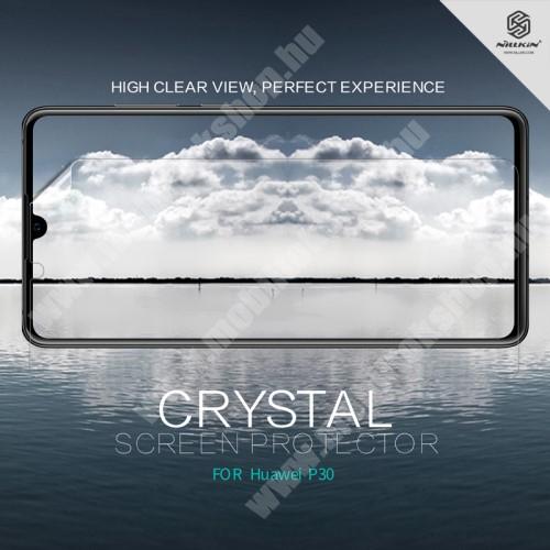 NILLKIN képernyővédő fólia - Crystal Clear - 1db, törlőkendővel - HUAWEI P30 - GYÁRI
