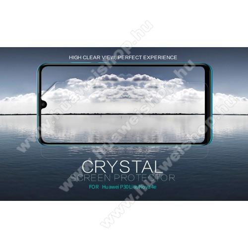 HUAWEI P30 LiteNILLKIN képernyővédő fólia - Crystal Clear - 1db, törlőkendővel - HUAWEI P30 Lite / HUAWEI nova 4e - GYÁRI