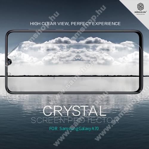 SAMSUNG Galaxy A70 (SM-A705F/SM-A705FN)NILLKIN képernyővédő fólia - Crystal Clear - 1db, törlőkendővel - SAMSUNG SM-A705F Galaxy A70 - GYÁRI