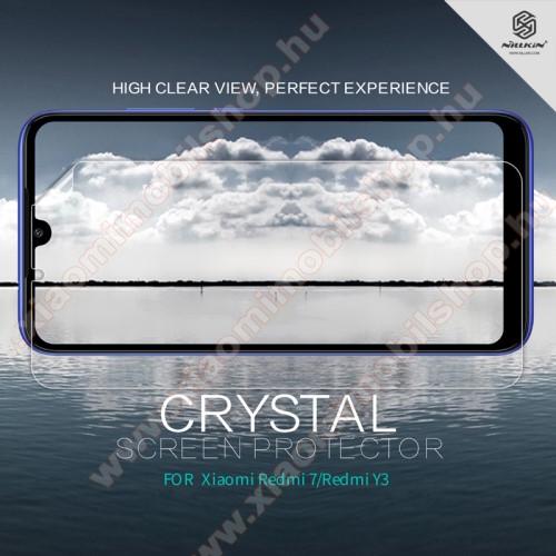 NILLKIN képernyővédő fólia - Crystal Clear - 1db, törlőkendővel - Xiaomi Redmi 7 / Xiaomi Redmi Y3 - GYÁRI