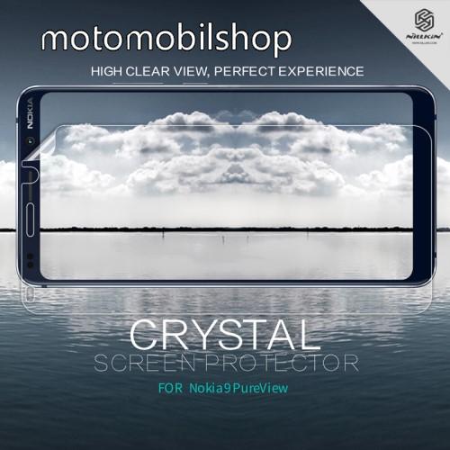 NILLKIN képernyővédő fólia - Crystal Clear - 1db, törlőkendővel - NOKIA 9 PureView - GYÁRI