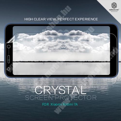 Xiaomi Redmi 7a NILLKIN képernyővédő fólia - Crystal Clear - 1db, törlőkendővel - Xiaomi Redmi 7A - GYÁRI