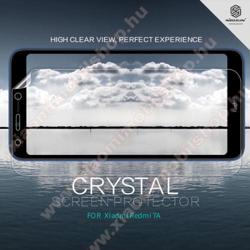 NILLKIN képernyővédő fólia - Crystal Clear - 1db, törlőkendővel - Xiaomi Redmi 7A - GYÁRI