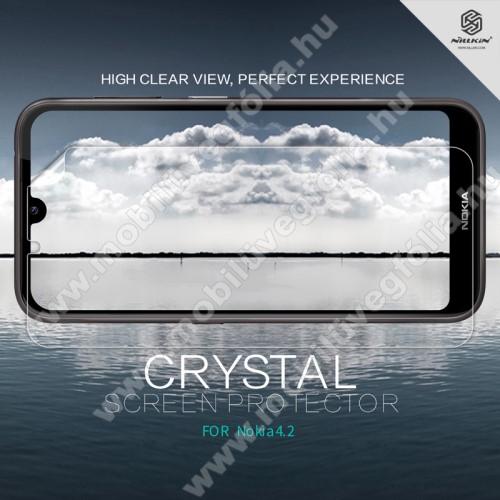 NILLKIN képernyővédő fólia - Crystal Clear - 1db, törlőkendővel - NOKIA 4.2 - GYÁRI