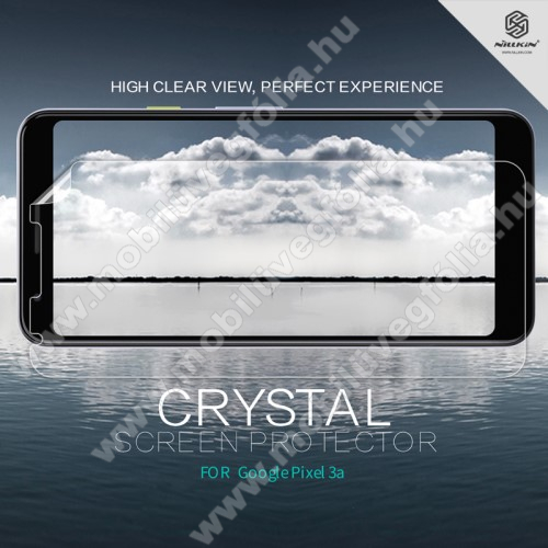 NILLKIN képernyővédő fólia - Crystal Clear - 1db, törlőkendővel - Google Pixel 3a - GYÁRI